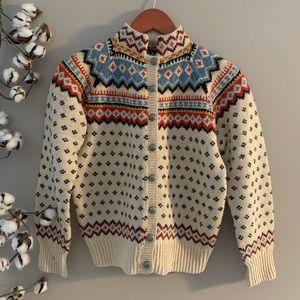 Vintage 1960s Nordic Fairisle Sweater